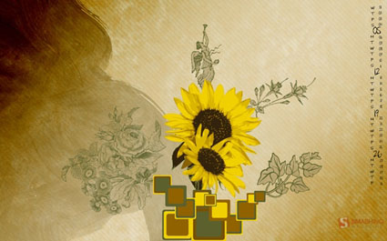 Wallpaper Sunflower