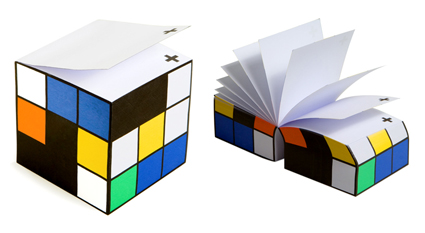 Colorblock Note Cube