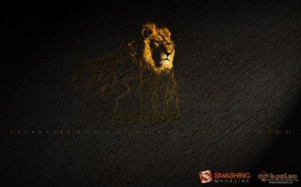 Wallpaper Lion Storm